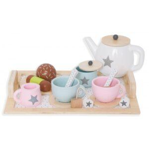 Zabawka drewniany serwis do herbaty