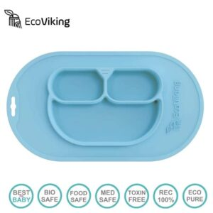 eco viking blw 4 in 1 eating helper owl arctic blue 2 300x300 - Podkładka pod talerz niebieska