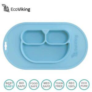 eco viking blw 4 in 1 eating helper owl arctic blue 2 300x300 - Podkładka pod talerz niebieska