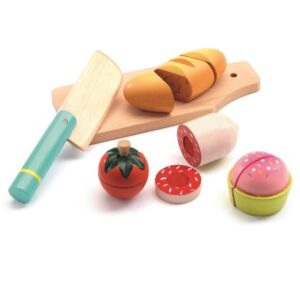 Drewniana zabawka zdrowy lunch