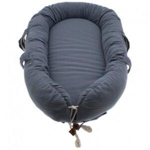 hi little one kokon gniazdko dla noworodka z oddychajacego muslinu newborn nest iron 300x300 - Kokon dla niemowlaka Iron