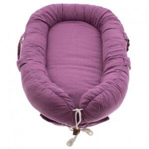 Kokon dla noworodka lavender