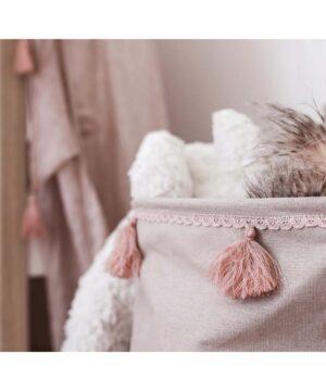 Kosz na zabawki vintage różowy