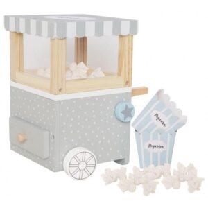 Drewniana zabawka maszyna do popcornu