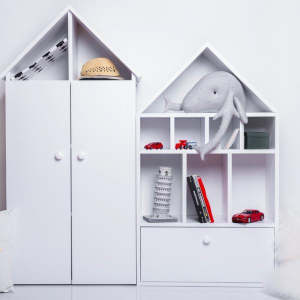 168 9 600x600 - Szafa domek dla dzieci Vesta
