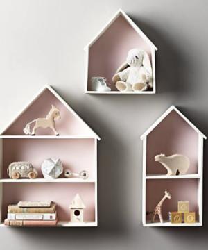 Półki domki zestaw