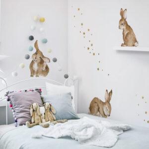 Naklejki na ścianę króliczki