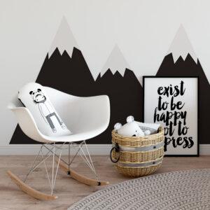 Naklejka tablica na ścianę załóżkownik góry