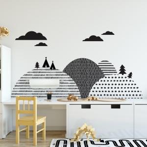 Naklejka na ścianę załóżkownik góry skandynawskie