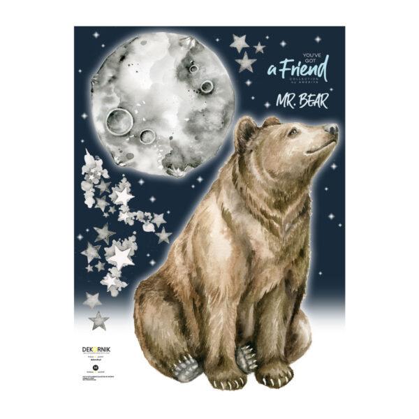 DEKO.N.NNM .047 600x600 - Naklejka na ścianę Niedźwiedź