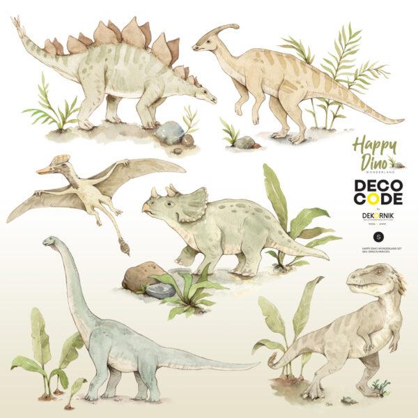 DEKO.N.NNM 051 600x600 - Naklejki na ścianę Dinozaury