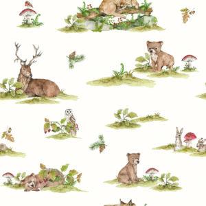 Tapeta dla dzieci leśna