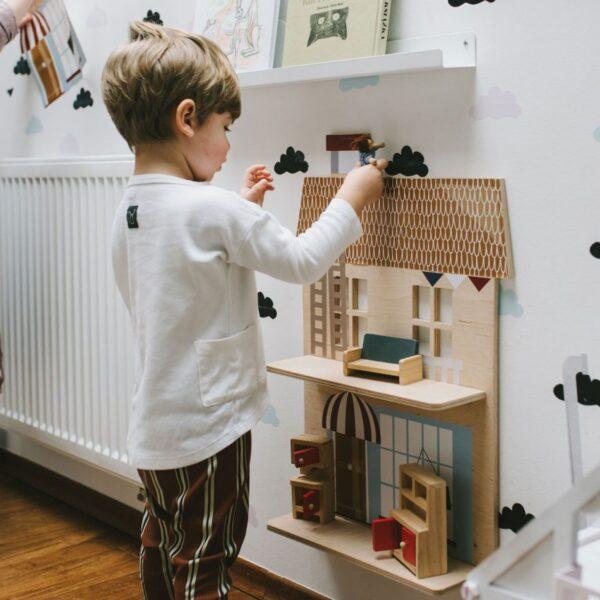 Półka do pokoju dziecięcego Vive La France