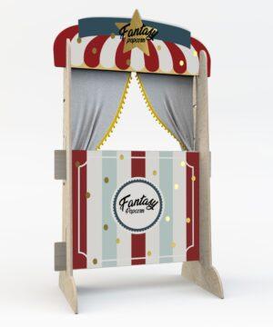 Teatrzyk dla dzieci popcorn stand