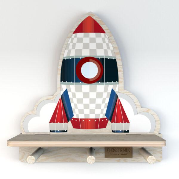 Półka do pokoju dziecięcego rakieta