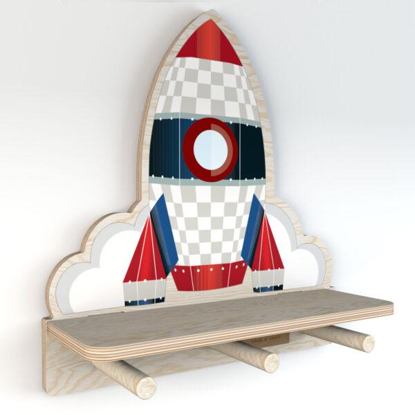 DEKO.WOOD .030 left 600x600 - Półka dla dziecka rakieta