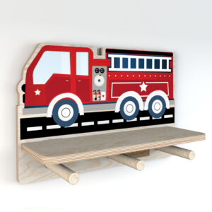 Półka do pokoju dziecięcego wóz strażacki