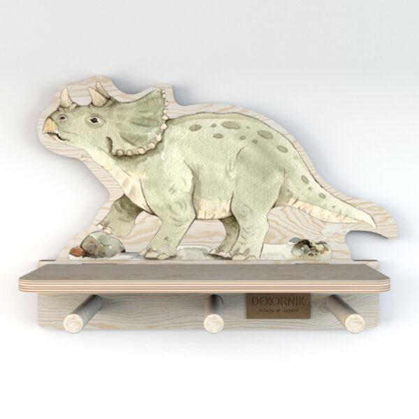 Półka do pokoju dziecięcego dinozaur