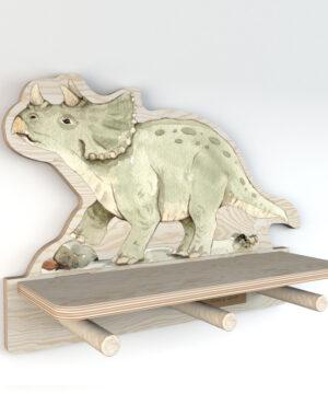 DEKO.WOOD .033 left 300x360 - Półka dla dziecka dinozaur