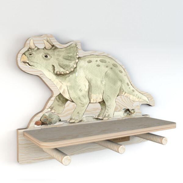 DEKO.WOOD .033 left 600x600 - Półka dla dziecka dinozaur