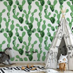 Tapeta kaktusy do pokoju dziecka