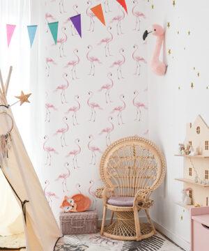 Tapeta flamingi do pokoju dziecka