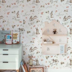 Tapeta króliki do pokoju dziecka