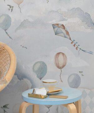 Tapeta na ścianę pastelowe balony