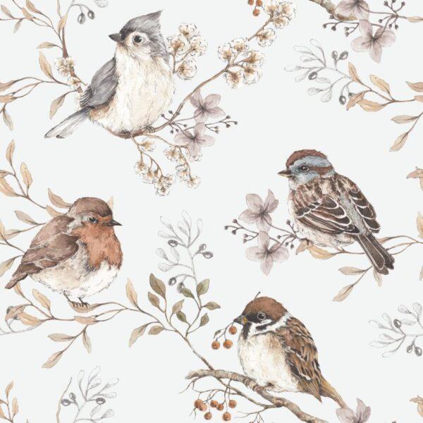 Kopia DEKO.TAP .076 50x280 600x600 - Tapeta na ścianę retro ptaki
