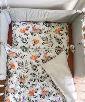 Las ochraniacz do lozeczka e 1000x1143 2 1 300x360 - Pościel do łóżeczka leśne zwierzęta