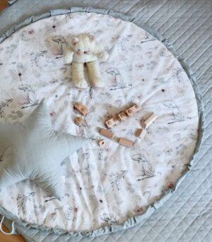 Poduszka gwiazdka szara magnolia