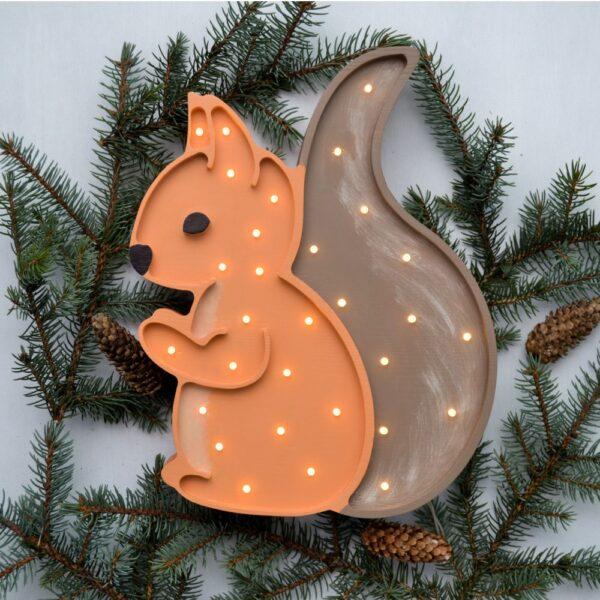 Lampka led dla dzieci wiewiórka