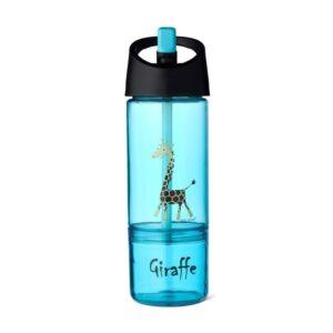 Bidon z pojemnikiem na przekąski giraffe