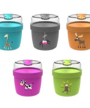 carl oscar n ice cup l pojemnik sniadaniowy z wkladem chlodzacy grey spider 2 300x360 - Śniadaniówka dla dzieci monkey