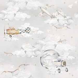 Tapeta dla dzieci Magiczne Samoloty