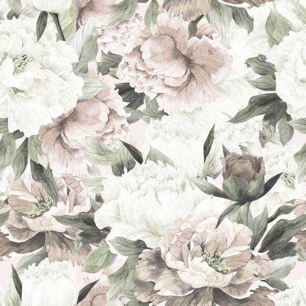 Tapeta na ścianę White and Pink Peonies