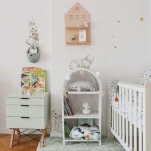 Naklejki na ścianę białe króliczki