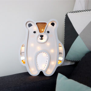Lampka dla dzieci misiu musztarda