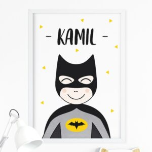 Plakat na ścianę superbohater z imieniem P059