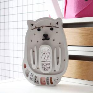 Lampka dla dzieci kotek szary