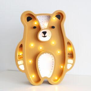 Lampka dla dzieci musztardowy miś