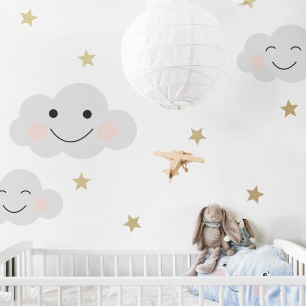 Naklejki na ścianę chmurki Smile