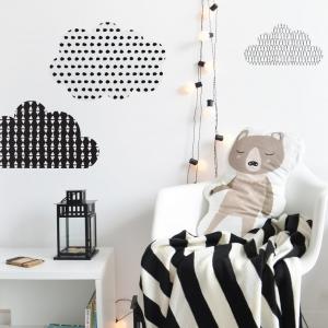 Naklejki na ścianę skandynawskie chmurki