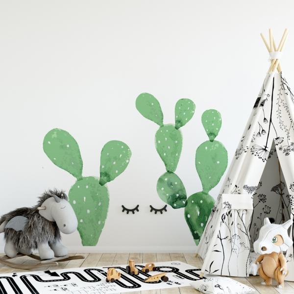 Naklejki na ścianę kaktusy