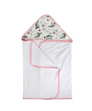 Ręcznik kąpielowy z kapturem Peonia