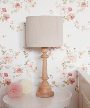 Lampa na stolik velvet cream