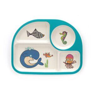 Talerzyk dla dziecka z przegródkami ocean