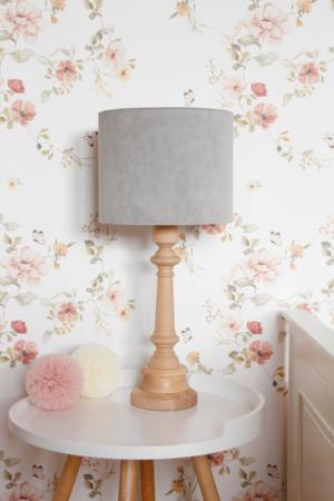 Lampa na stolik velvet grey