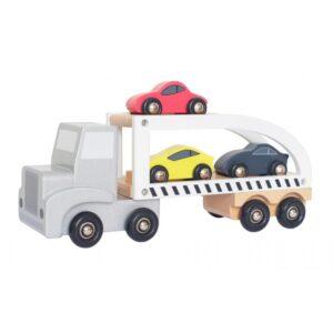 Zabawka laweta z trzema samochodami