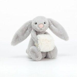 Przytulanka króliczek z mufką 18 cm